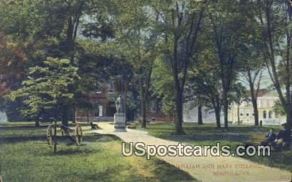 William & Mary College - Norfolk, Virginia VA Postcard