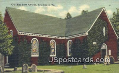 Old Blandford Church - Petersburg, Virginia VA Postcard
