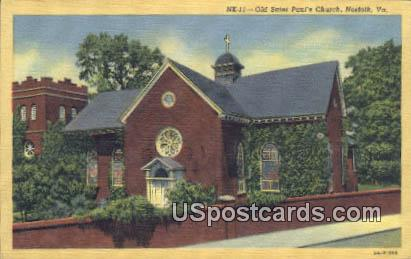 Old Saint Paul's Church - Norfolk, Virginia VA Postcard
