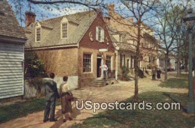 Margaret Hunter Shop, Golden Ball - Williamsburg, Virginia VA Postcard