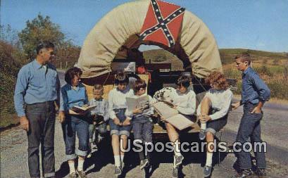 Lesson Time Aboard, Last Wagon - Misc, Virginia VA Postcard