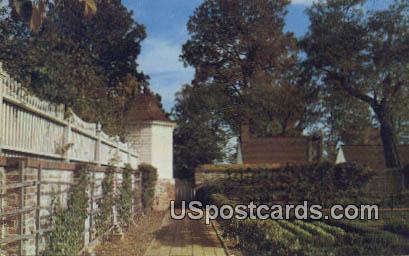 Kitchen Garden - Mt Vernon, Virginia VA Postcard