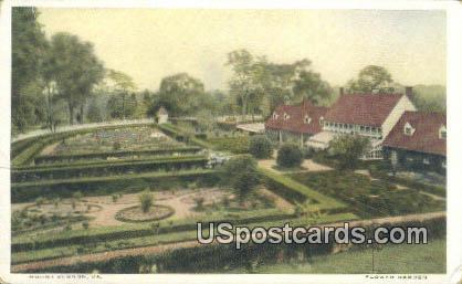 Flower Garden - Mt Vernon, Virginia VA Postcard