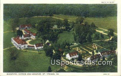 Garden & Grounds - Mt Vernon, Virginia VA Postcard