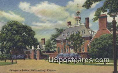Governor's Palace - Williamsburg, Virginia VA Postcard
