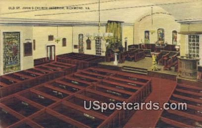 Old St John's Church - Richmond, Virginia VA Postcard