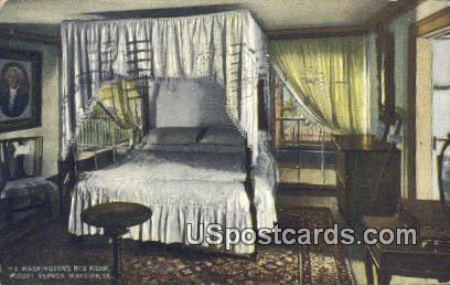 Washington's Bedroom - Mt Vernon, Virginia VA Postcard