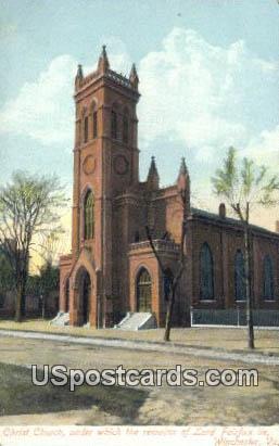 Christ Church - Winchester, Virginia VA Postcard