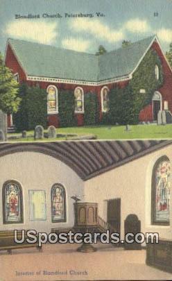 Blandford Church - Petersburg, Virginia VA Postcard