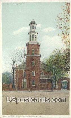 Christ Church - Alexandria, Virginia VA Postcard