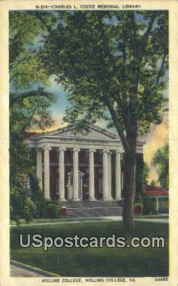 Hollins College - Roanoke, Virginia VA Postcard