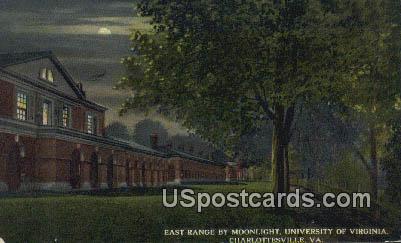 East Range, University of Virginia - Charlottesville Postcard