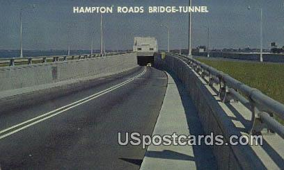 Hampton Roads Bridge Tunnel - Norfolk, Virginia VA Postcard