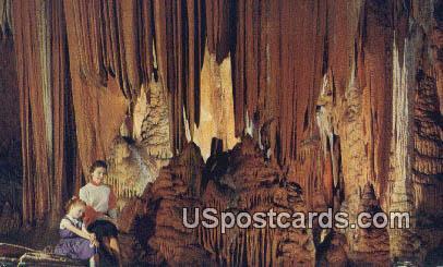 Cathedral Side Wall - Luray Caverns, Virginia VA Postcard