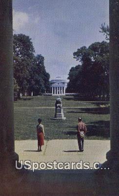 The Lawn, University of Virginia - Charlottesville Postcard
