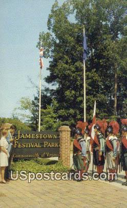 Court of Welcome - Jamestown, Virginia VA Postcard