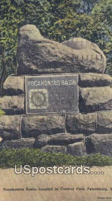 Pocahontas Basin, Central Park - Petersburg, Virginia VA Postcard