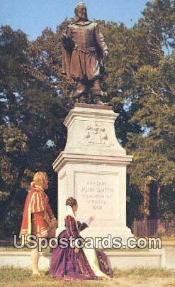 Captain John Smith - Jamestown, Virginia VA Postcard