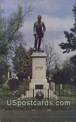Tomb & Stonewall Jackson Monument - Lexington, Virginia VA Postcard