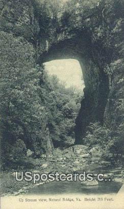 Up Stream - Natural Bridge, Virginia VA Postcard