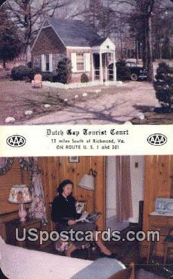 Dutch Gap Tourist Court - Richmond, Virginia VA Postcard