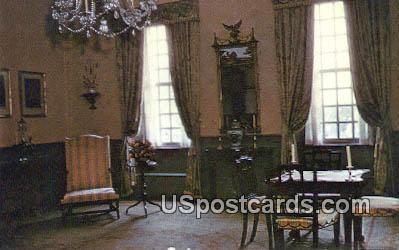 Parlor, Stratford Hall - Westmoreland County, Virginia VA Postcard