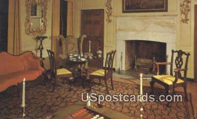 Parlor of the Peyton Randolph House - Yorktown, Virginia VA Postcard