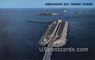 Chesapeake Bay Bridge Tunnel - Virginia Beach Postcards, Virginia VA Postcard