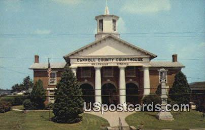 Carroll County Court House - Hillsville, Virginia VA Postcard