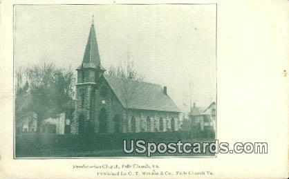 Presbyterian Church - Falls Church, Virginia VA Postcard