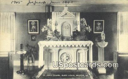 St Ann's Chapel, Guest House - Bristow, Virginia VA Postcard