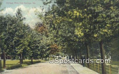 Cottage Row - Hot Springs, Virginia VA Postcard