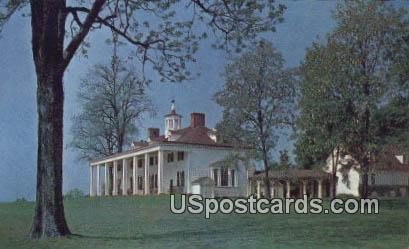 Home of George & Martha Washington - Mt Vernon, Virginia VA Postcard