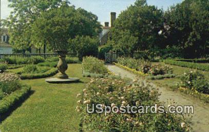 Colonial Garden - Misc, Virginia VA Postcard