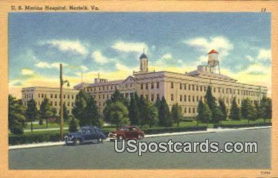 US Marine Hospital - Norfolk, Virginia VA Postcard