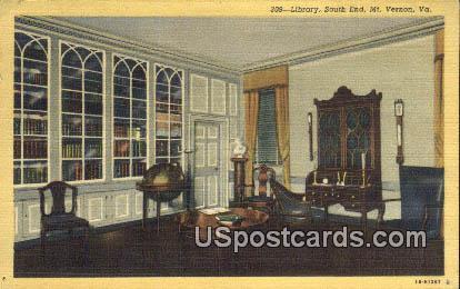 Library, South End - Mt Vernon, Virginia VA Postcard