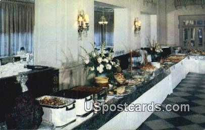Famous Sunday Evening Buffet - Roanoke, Virginia VA Postcard