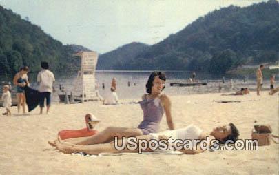Hungry Mother Beach - Marion, Virginia VA Postcard