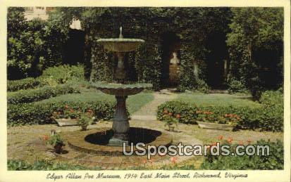 Edgar Allan Poe Museum - Richmond, Virginia VA Postcard