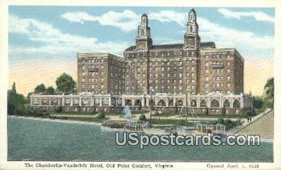 Chamberlin Vanderbilt Hotel - Old Point Comfort, Virginia VA Postcard