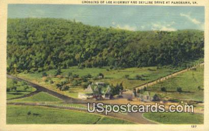 Skyline Drive - Panorama, Virginia VA Postcard