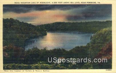 Mountain Lake - Pembroke, Virginia VA Postcard