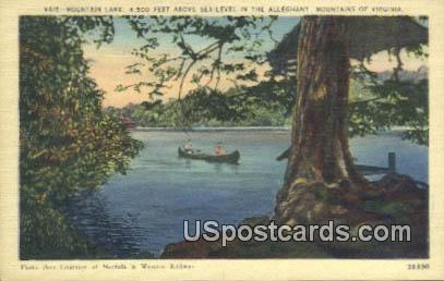 Mountain Lake - Alleghany Mountains, Virginia VA Postcard