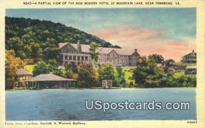 Modern Hotel - Pembroke, Virginia VA Postcard