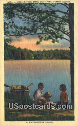 Fairy Stone State Park, VA Postcard       ;         Fairy Stone State Park, Virginia