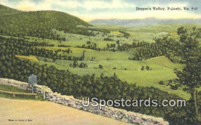 Draper's Valley - Pulaski, Virginia VA Postcard