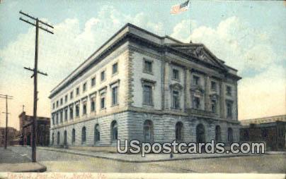 US Post Office - Norfolk, Virginia VA Postcard