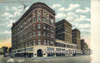 Montivello Hotel - Norfolk, Virginia VA Postcard