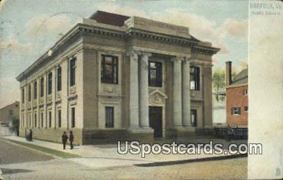 Public Library - Norfolk, Virginia VA Postcard