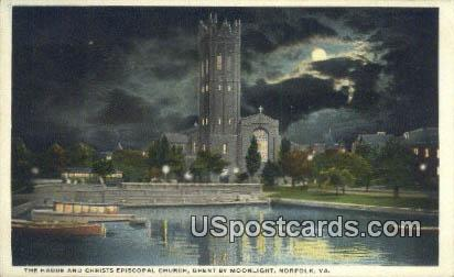Hague, Christ Episcopal Church - Norfolk, Virginia VA Postcard